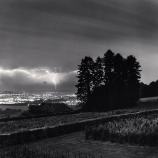 Grape Vines and Lightning, Hautvillers, Champagne-Ardenne, France. 2001