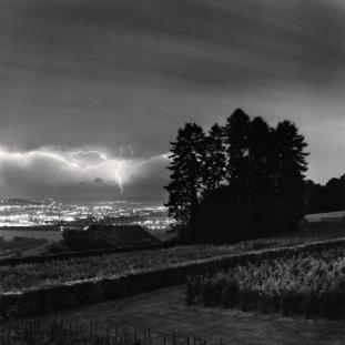 Grape Vines and Lightning, Hautvillers, Champagne-Ardenne, France. 2001