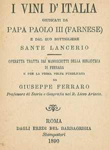 Manoscritto Sante Lancerio