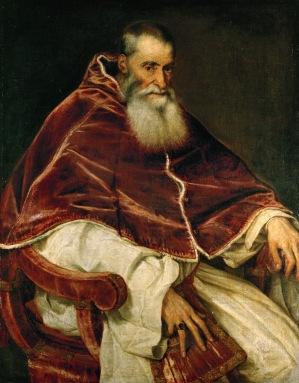 Papa Paolo III Farnese ritratto da Tiziano