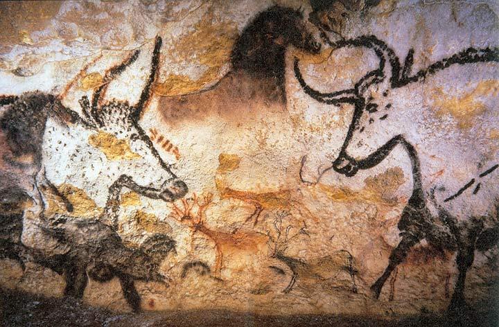 Arte parietale nelle Grotte di Lascaux - Paleolitico