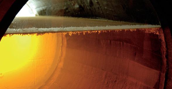 Il dettaglio del velo di flor che protegge il vino all'interno della botte